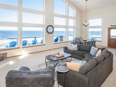 Photo for Luxury Oceanfront Home With Hot Tub, Game Room and Spectacular Deck!