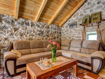 Duplex Brand New Etno Stone House in Mountains by the Sea for 4 People in Nature