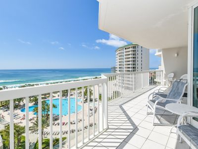Photo for Spacious beachfront end condo w/private balcony & 4 beds!