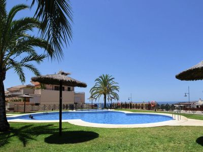 Photo for Sunny spacious apartment with sea views, residential with pool and beach
