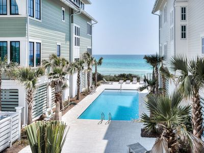 Photo for Beach Therapy, 30A Cottages, Stunning GULF VIEWS, Steps to Pool and Beach, 6 Bikes