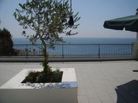Contemporary, comfortable, very clean apartment with amazing terrace overlooking the sea