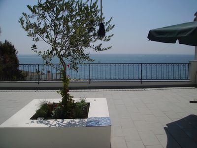 Photo for Comfortable apartment with sea view on the Amalfi coast