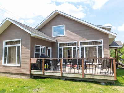 Photo for Tranquil  roomy Cabin located inside the quaint Wasagaming townsite.