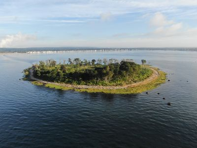 Charles Island allegedly home to Captain Kidd's lost treasure.