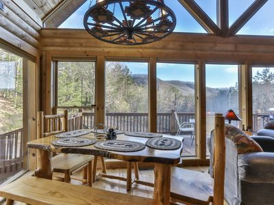 Photo for License 2 Chill is a secluded mountain cabin with floor to ceiling windows sporting picturesque view