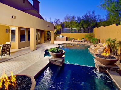 Photo for Heated Salt Water Pool and Spa, Outdoor BBQ, Tennis Courts, Unbeatable Location!