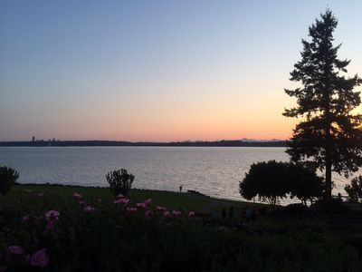Photo for Lake Washington 180 Degree Unobstructed View, Lake, City, Mtns - Kirkland