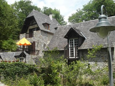 Photo for Fully renovated Medieval water mill, fishing for trout from the terrace.