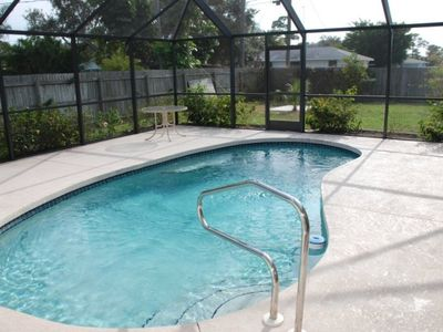 Heated pool in large screened lanai