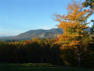 in the fall you will have an wide view of the foliage right from the deck.