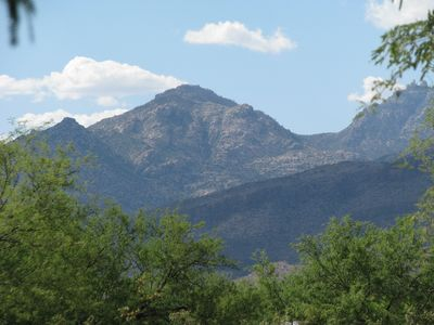View north to the catalina mountains