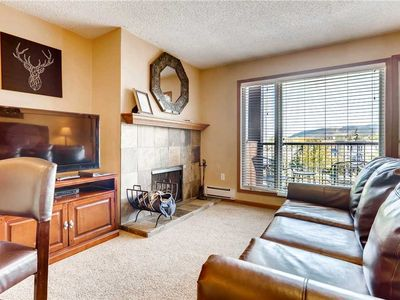 Photo for Quaint studio with fireplace and private balcony overlooking town