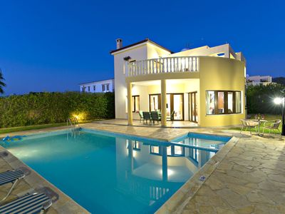 Photo for Beach Front Villas - Argaka - Private Heated Pools - Pool Table - Sea Views