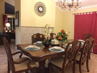 Dining room, High-grade solid wood table