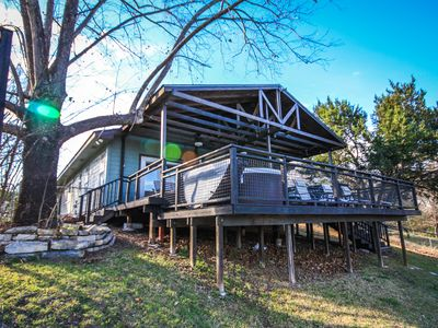 Photo for Amazing Retreat Features Huge Deck With Views of Water & Private Hot Tub