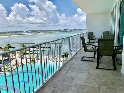Photo for Huge Balcony with Beautiful Bay Views on the 5th Floor!