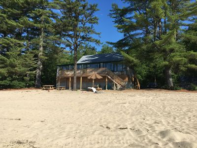 Photo for Beachfront cottage on Lovewell Pond