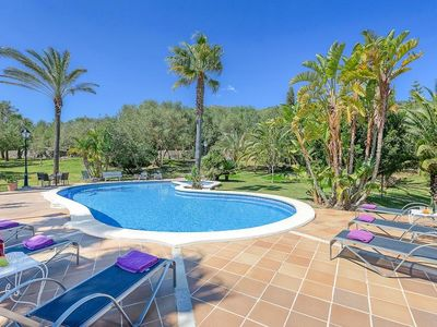 Photo for 6 bedroom Villa, sleeps 12 in sa Pobla with Pool, Air Con and WiFi