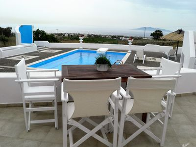 Photo for ATLANTIS, ground floor traditional Cycladic 2 bedroom suite, with shared pool.