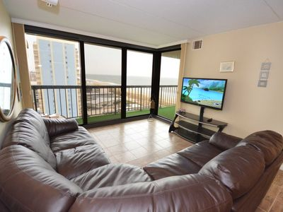 Photo for Spacious, stylish 2 bedroom oceanfront condo with free WiFi, a gorgeous ocean view, and great amenities including two pools and a game room located uptown!