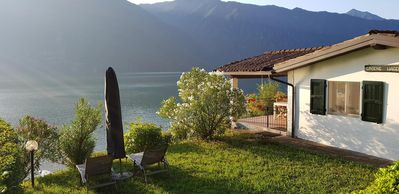 Photo for holiday home on Lake Idro with private beach