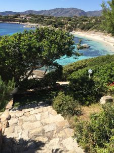 direct access to the beach of Cala Caterina from the Villetta