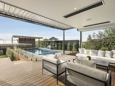 Photo for Byron by the Beach - Luxury Retreat with Pool, Spa, Serene Water Views, Walk to Beach, Foxtel