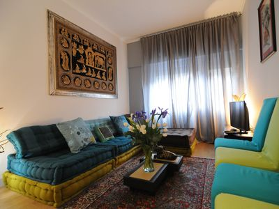 Photo for Central in Trastevere, modern, elegant, renovated, 2 lifts, free wi-fi