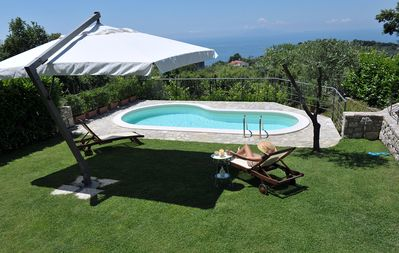 Photo for Casa Nando with private Pool, Garden, Terrace and Sea View