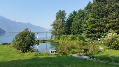 Photo for Lakefront Villa, in its own 5 acre parc at the lake, private sandy beach