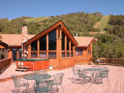Photo for 90ST1 by Pioneer Ridge: AMAZING VIEWS! Dog Friendly and Huge Deck!