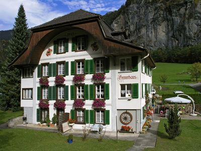 Photo for Apartment in a sunny location, across from the world-famous Staubbachfall