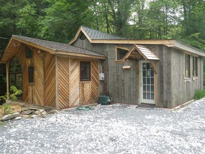 cozy winter streamside cabin convenient to vrbo ForSki Liberty Cabin Rentals