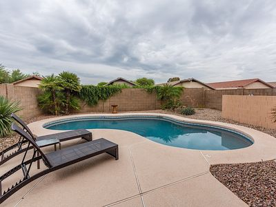 Photo for Private 3 bed home w/private pool across street from Desert Ridge!
