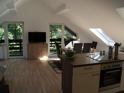 Photo for AmBach4 - DG-Fewo with open kitchen and cozy balcony