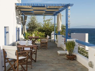 Photo for Hera home with sea view, 50m from Logaras sandy beach
