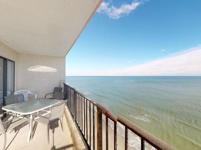 Photo for NEW LISTING! Spectacular oceanfront condo w/shared pool, beach just steps away