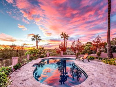 Photo for NEW LISTING! Luxurious house w/pool & amazing desert views-convenient location