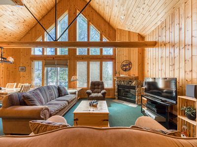 Photo for NEW LISTING! Log decor home w/ private hot tub, deck & shared pools/tennis!