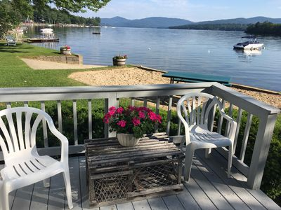 Photo for Waterfront Cottage with Panoramic Lake Views