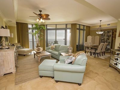 Photo for 3 BR, 4 Bath ~ Gulf Front ~ Sleeps 10 ~ All Tile ~ Lazy River ~ Phoenix West II 1402