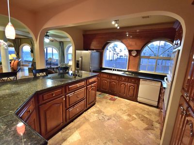 Fully stocked kitchen with spectacular views