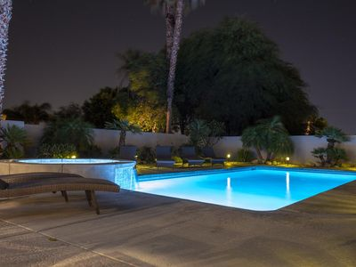 Photo for NEW! Beautiful Modern Escape - Salt Water Pool, Jacuzzi, Cabana, BBQ, Chess
