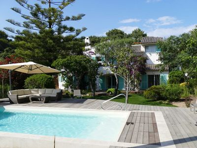 Photo for Domaine de Cala Rossa: 5 bedroom villa with pool and beach walk