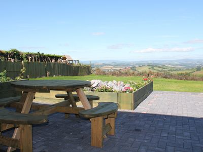 Photo for ❤️Dog friendly, log burner, fantastic panoramic views , New Hot Tub