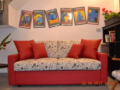 Photo for Cozy apartment decorated by artist and equipped with all comforts