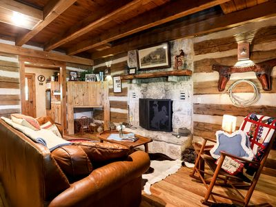 Photo for Happy Trails Log Cabin | Wildlife | Fireplace