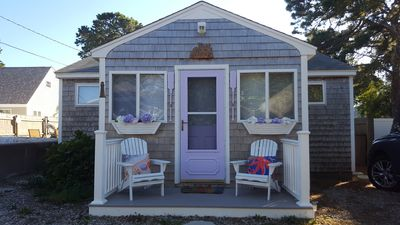 Photo for Quaint cottage within a 5 minute walk (2/10 mile) to the beach & restaurants