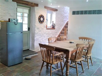 Photo for A spacious yet cosy eco converted dairy barn, situated within a vineyard.